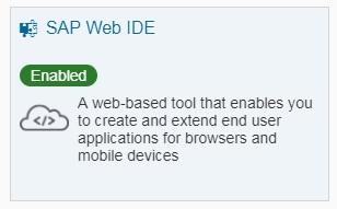 SAP Web IDE